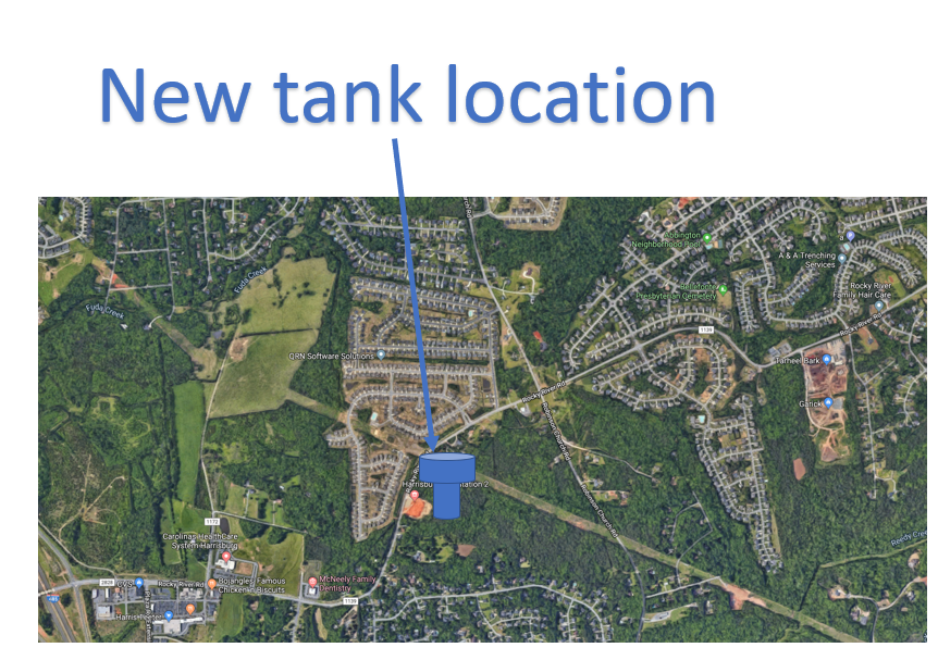 Water Tower Location Graphic