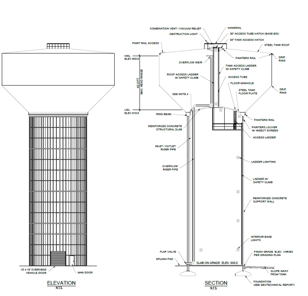 Water Tower Elevation